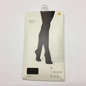 A NEW DAY black gold metallic tights